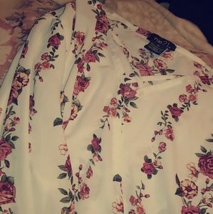 White rose shirt